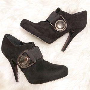 Jessica Simpson Roha suede ankle bootie heels
